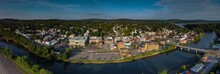 Catskill New York Town Center Panorama