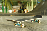 Close-up Of Skateboard On Skateboard Park