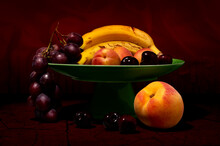 Close-up Of Fruits In Bowl On Table Still Life