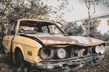 Abandoned Car In Park