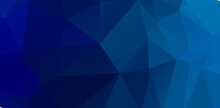 Blue Vivid Geometric Polygonal Abstract Design Background Template