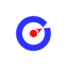 C Purple Compass Logo Design Graphic Concept Vector Illustration