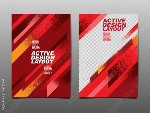 Canvastavla Active design Layout , Sport Background, Dynamic Poster, Brush Speed Banner, Vector Illustration