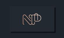 Minimal Clip Initial Letter NP Logo