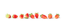 Ripe Strawberry Isolate On White Background