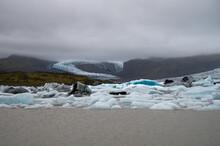 Heart Shape Glacier Ice.