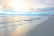 canvas print picture - Amazing view of the beautiful pictures of the Atlantic ocean from the town of Cape in South Africa