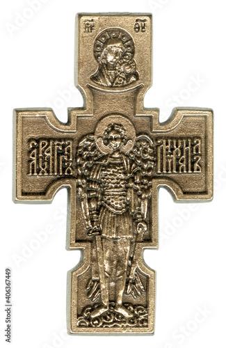 Foto Archangel Raphael Antique Gold Crucifix