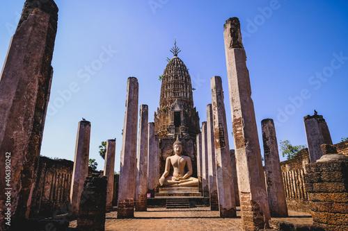 Fototapeta Sukhothai Historical Park, Wat Phra Sri Rattana Mahathat Rajaworaviharn, Sukhoth