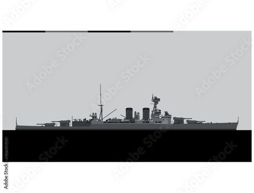 HMS Hood Fototapete