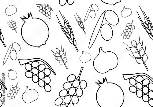 Fotografie, Obraz Seven kinds of fruit typical of the Land of Israel