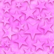 Leinwandbild Motiv Seamless star pattern, star on a pink background. 3D render, illustration. Festive abstract concept. New year, christmas, textiles, paper