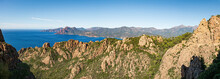 Rock Formations In The Bizzare Landscape Of Calanche De Piana, Located In N The Gulf Of Porto, On The West Coast Of Corsica, France
