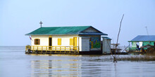 Floating Village On The Tonle Sap Lake Near Siem Reap, Cambodia