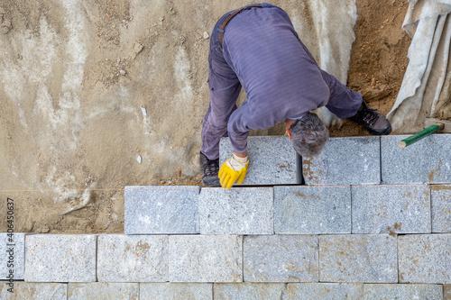 Fényképezés Construction for protection river bank