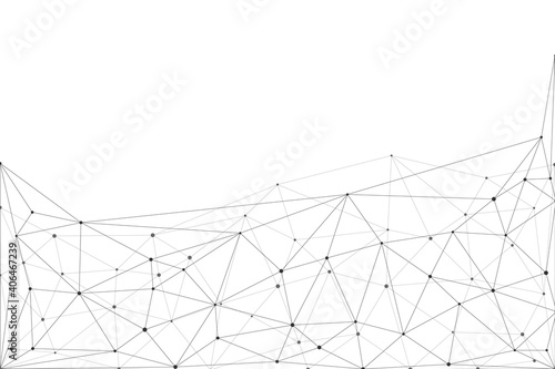 Obraz Internet connection network high digital technology. Abstract geometric background with connecting points and lines. Vector illustration EPS 10. - fototapety do salonu