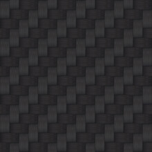 Seamless Vector Carbon Fiber Texture. Abstract Black Background