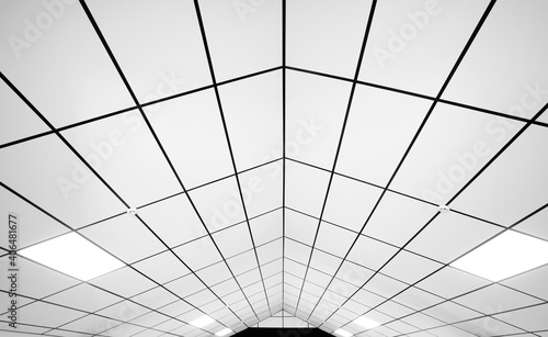 Cuadros en Lienzo The wide white ceiling in the building