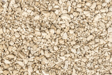 Abstract Background Of Gravel, Pebbles, Shingle. Neutral Colors. Black And White.