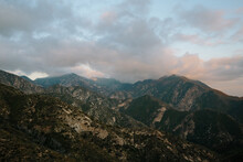 Mountain Landscape With Clouds In Angeles National Forest, California