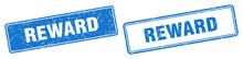 Reward Stamp Set. Reward Square Grunge Sign