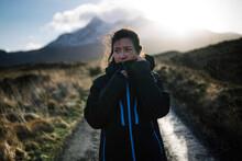 Woman On A Road In Glen Etive, Scotland