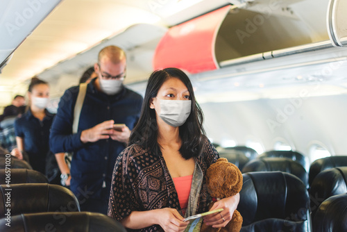Fototapeta Air travel in the new normal