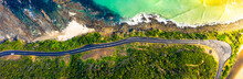 Panorama Of The Great Ocean Road, The Road To Happiness