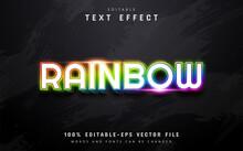 Neon Rainbow Text Effect