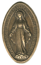 O Mary Conceived Without Sin Gold Bronze Medal