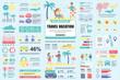 Bundle travel vacation infographic UI, UX, KIT elements. Different charts, diagrams, workflow, flowchart, timeline, schemes, graphs design template. Vector info graphic and infographics set.