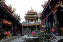 Sanxia Qingshui Zushi Temple With Elaborate Carvings And Sculptures In New Taipei City, Taiwan