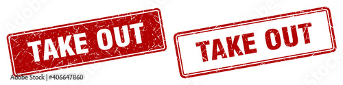 Fotografie, Obraz take out stamp set. take out square grunge sign