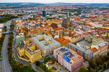 Aerial View On The City Plzen. Czech Republic