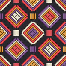 Seamless Background Of Scottish Fabric. Texture Made Of Cells. Tartan Plaid. Vector Illustration For Web Design Or Print.