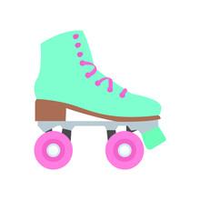 Retro Roller Skater Emoji Vector