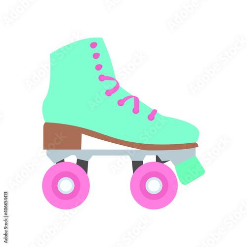 Retro roller skater emoji vector Fototapeta