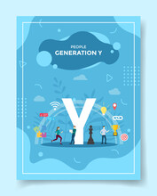 Generation Y For Template Of Banners, Flyer, Books Cover, Magazine