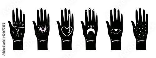 Fotografiet Black magic hands