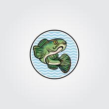 Channa Snakehead Fish Mascot Logo Vector Symbol Illustration Desig