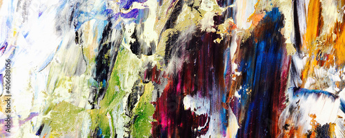 Colorful abstract background wallpaper. Modern motif visual art. Mixtures of oil paint. Trendy hand painting canvas. Wall decor and Wall art prints Idea. 3D Texture. Art object