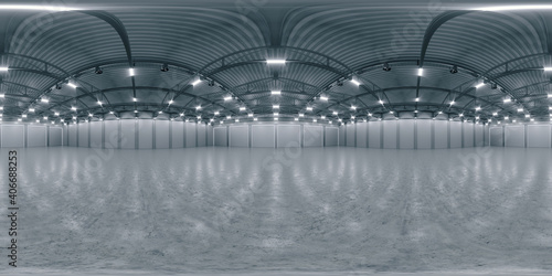 Tablou Canvas Full spherical hdri panorama 360 degrees of empty exhibition space