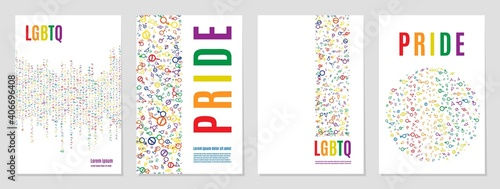 Sign pride lgbt symbol rainbow. symbol - fototapety na wymiar