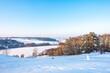 Zima śnieg jezioro kaszuby punkt widokowy
