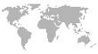 Weltkarte aus schwarzen Punkten - Vereinfachte Karte von der Welt