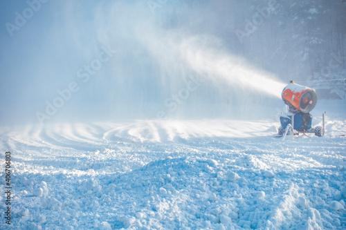 Cuadros en Lienzo Złota góra stok śnieg zima kaszuby