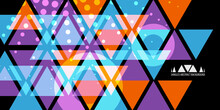 Geometric Colorful Abstract Background Template