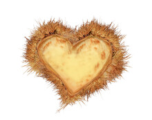 Love Nest  Hearts Valentines Red Chestnuts Nest Isolated For