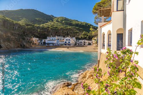 Canvas Sa tuna begur fishing village of spain europe tourism beach casitas blanca