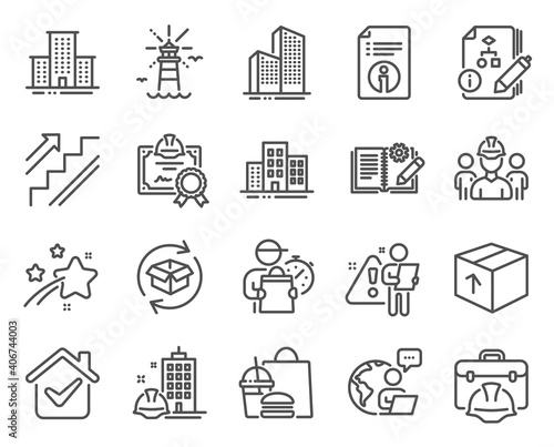 Canvas Print Industrial icons set